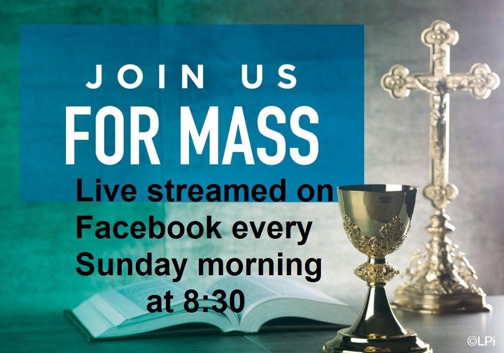 live streamed mass